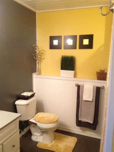 yellow and grey bathroom decorating ideas grey and yellow bathroom ideas half bath
