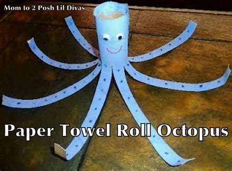 crafts with paper towel rolls paper towel roll octopus kid crafts