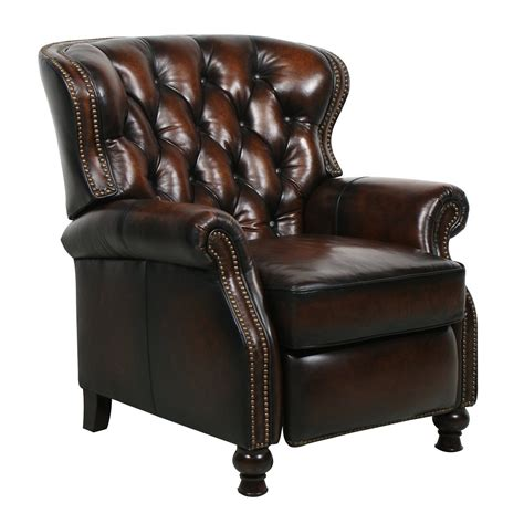 leather recliner chairs barcalounger presidential ii leather recliner chair