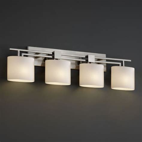 bathroom bar lighting justice design fsn 8704 30 opal nckl aero 4 light bath bar