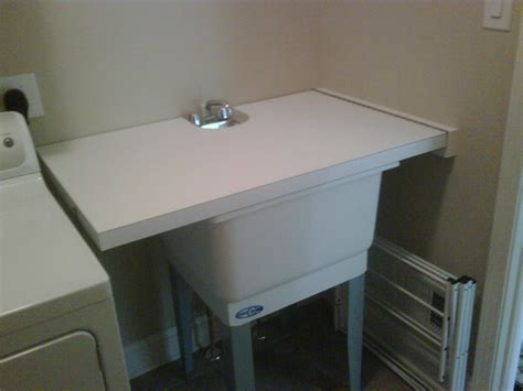 turn utility sink into folding surface countertop