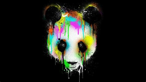spray paint rainbow panda 3d hd wallpapers panda 3d desktop backgrounds hd