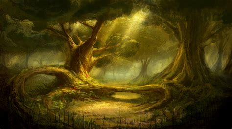 den painting the forest den by meckanicalmind on deviantart
