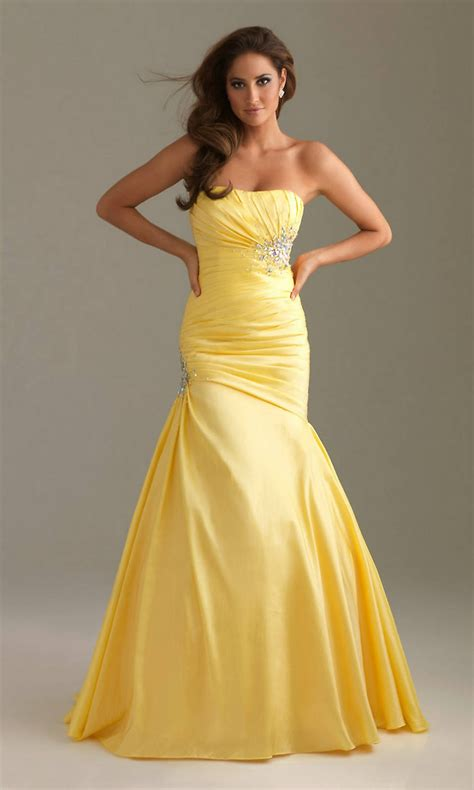 prom dress beautiful yellow mermaid prom dresses dresses for every
