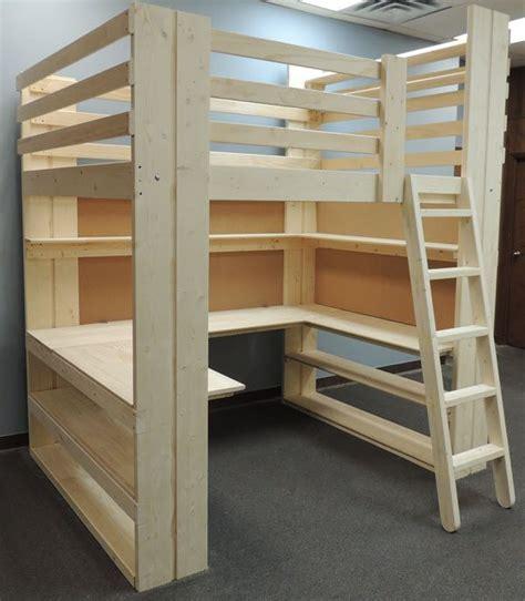loft bed with desk plans best 25 college loft beds ideas on