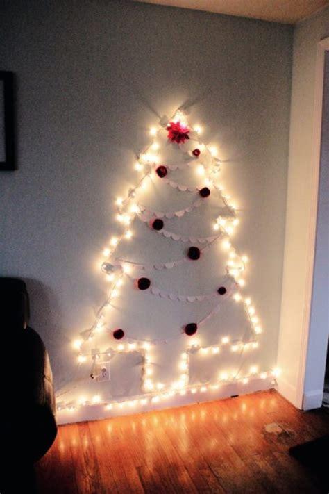 tree with big lights how to make a chrismas wall tree 15 amazing wall