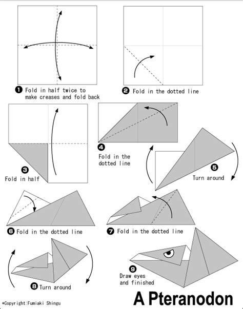 origami pteranodon pteranodon easy origami for