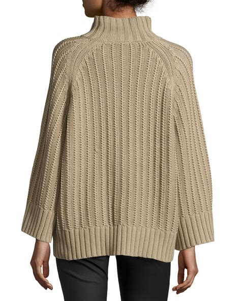 Michael Kors Ribbed Shaker Knit Sweater In Lyst
