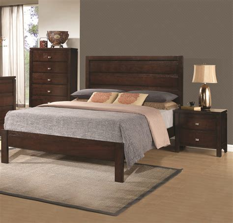 solid wood modern bedroom furniture camarillo collection 3 rich brown solid wood bedroom