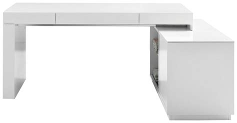 modern white desks s005 modern office desk with built in bookshelf white
