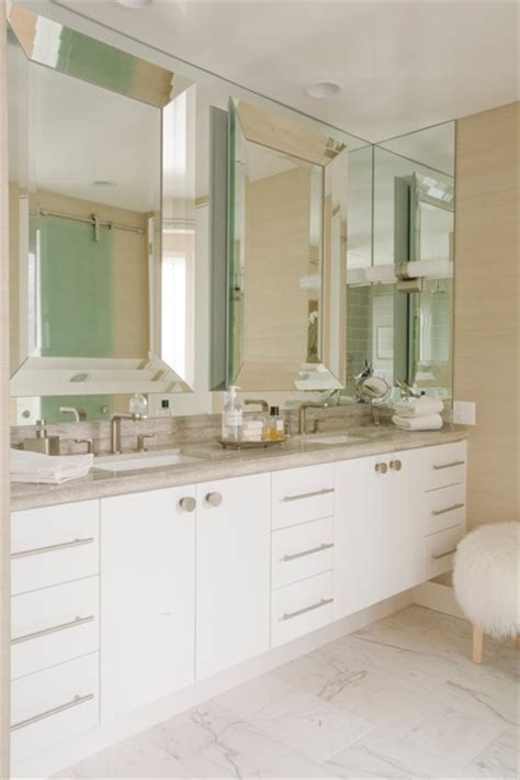 beveled mirrors for bathroom beveled bathroom mirror contemporary bathroom maison