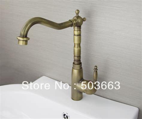 antique brass kitchen faucets brass faucet kitchen images