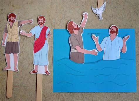 baptist craft for top 20 ideas about bible jesus baptism on
