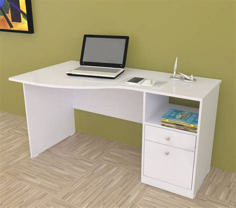 modern white desks inval white modern curved top desk contemporary desks