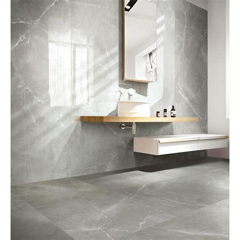 carrelage sol et mur gris effet marbre rimini l 60 x l 60 cm leroy merlin