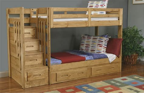 build bunk bed with stairs image mag