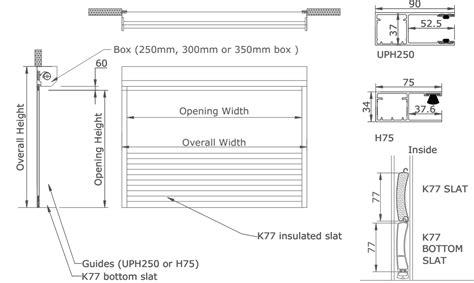 Brick Garages Designs k77 k55 foam filled aluminium roller shutters