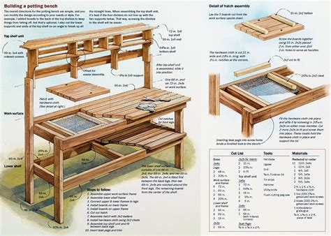 woodworking benches plans free potting bench woodworking plan easy wood projects you can