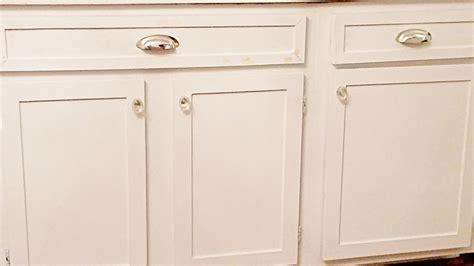 flat kitchen cabinet doors makeover diy cabinet trim update house elizabeth burns