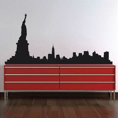 new york skyline wall sticker new york skyline wall decal skylines wallpaper decal