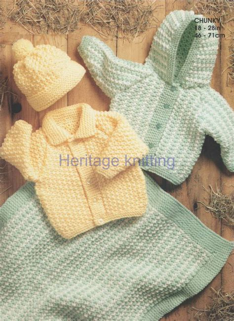 chunky knit childrens patterns free baby childrens jackets hat and blanket chunky knitting pattern