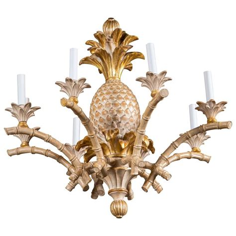 italian wood chandelier italian carved wood pineapple chandelier for sale at 1stdibs