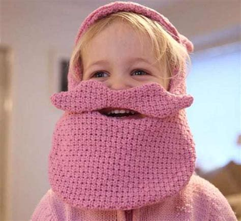 knitted baby beard grow a beard with a knitted cap