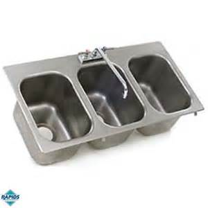 drop in kitchen sinks eagle 3 compartment drop in