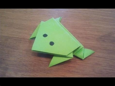 learn origami make a paper frog how to make a paper jumping frog origami