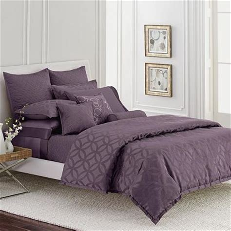 vera wang bedding sets simply vera wang plum purple interlocked comforter