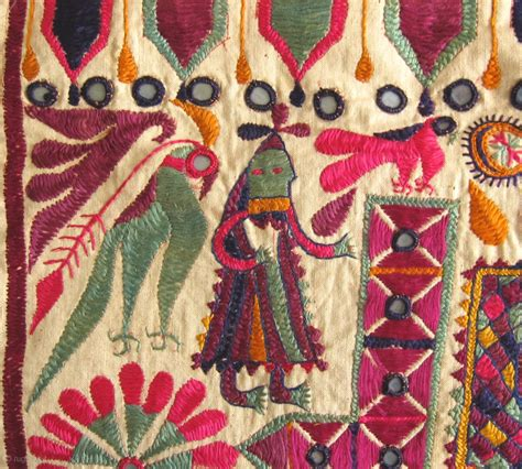 Rugs Sf by Antique Folk Art Embroidered Textiles From Gujarat India