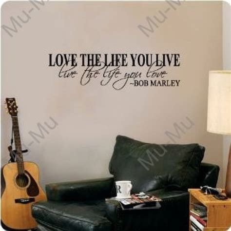 wall decor stickers quotes bob marley quote wall decal decor words large