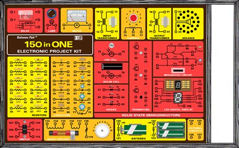 project kit redrawn replica of 150 in 1 electronic project kit on behance