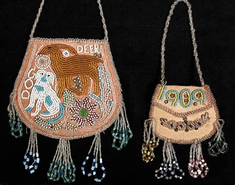 indian beaded purses 2 american beaded bags including mohawk pink co