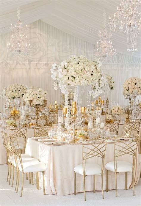 gold and white decorations 43 glam gold and white wedding ideas happywedd