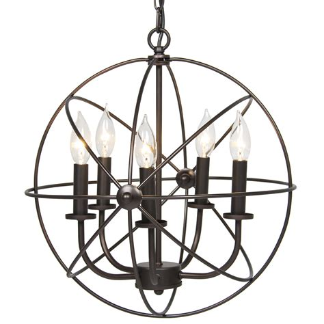 chandelier hanging industrial vintage lighting ceiling chandelier 5 lights