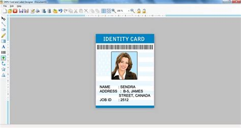 make an id card free screenshot of label designer free version 7 3 0 1