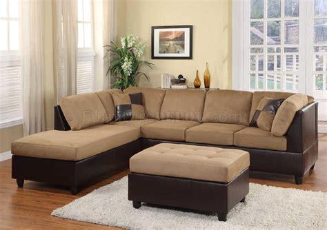 sectional sofa microfiber light brown microfiber modern sectional sofa w ottoman