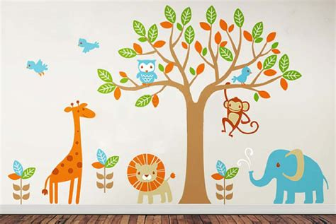 childrens nursery wall stickers 6 safari playland leafy dreams nursery decals removable