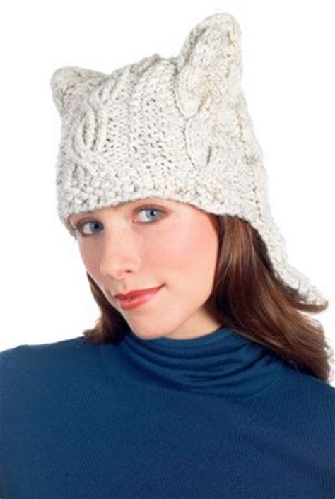 cat ear hat knitting pattern cabled hat pattern knit cats easy patterns