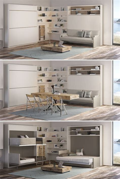 transforming to bunk bed transforming vacation home by resource furniture this