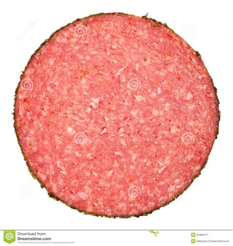 slice of slice of salami sausage royalty free stock photography