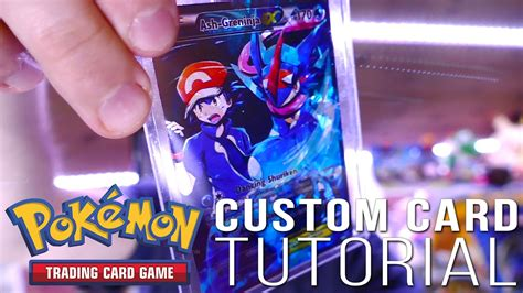 make your own ex card how to make a custom card ash