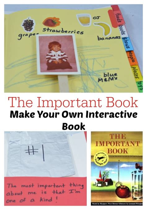 make your own picture book the important book books with