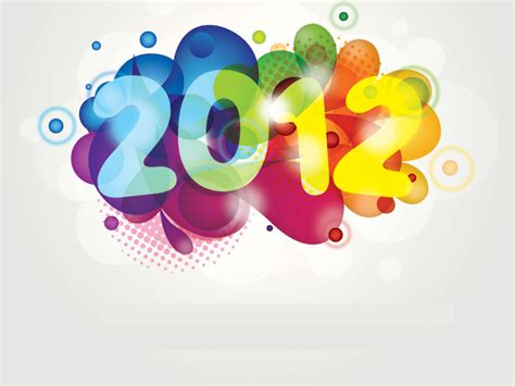 colorful new year 2012 powerpoint template 171 ppt