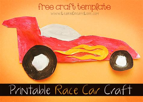 car craft for printable race car craft