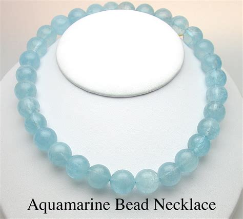 aquamarine bead necklace union goldsmith in san francisco featuring march