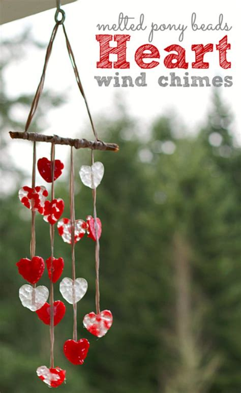 melted bead wind chimes diy valentines day crafts for diy ready