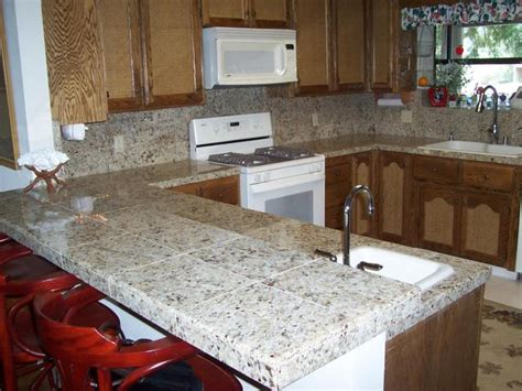 kitchen counter tile ideas kitchen countertop ideas choosing the material for your kitchen