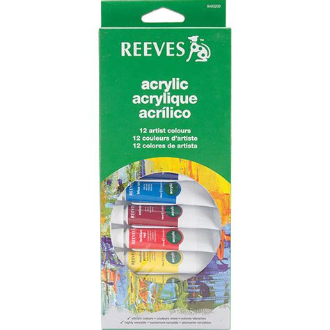 walmart acrylic paint reeves assorted colors acrylic paint set 12pk walmart